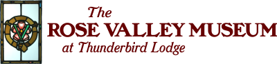 The Rose Valley Museum at Thunderbird Lodge Mobile Retina Logo